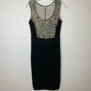 Rachel Roy Sz Small dress bodycon animal print